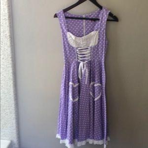 Hell bunny polka dot dress